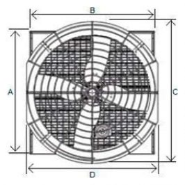 Ventilation Systems EC-50 Series Dimensions