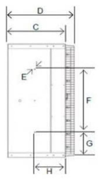 Ventilation Systems ED-30 Series Dimensions